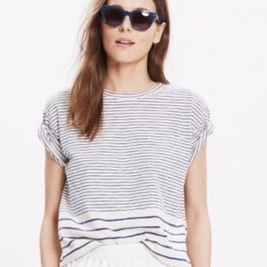 Madewell Striped Cropped Tee